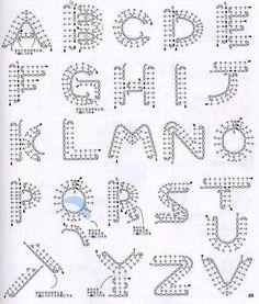 Esquemas para hacer el abecedario en ganchillo