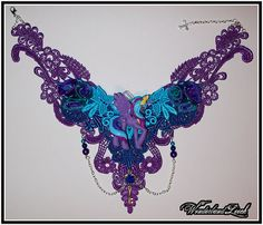 Princess Luna Lace Necklace #MLP Gorgeous.