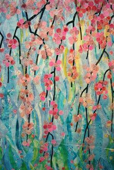 Spring Quilt by Akiko Kawata of Osaka, Japan. - I love the colors and look of this one