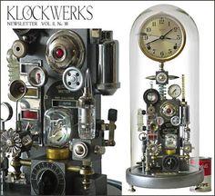 """""""Klockwerks"""" Bell Jar Clock  ROGER WOOD'S"""