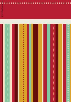 Christmas scrapbook paper - bordered stripe