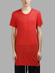 RICK OWENS RICK OWENS MEN'S RED BASIC T-SHIRT. #rickowens #cloth #t-shirts
