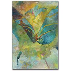 @Overstock.com - Rickey Lewis 'Butterflight' Gallery-wrapped Canvas Art - Colorful gallery-wrapped canvas art by Rickey Lewis will complement the color scheme of any room. It depicts a butterfly with attractive gradients of green, blue, and yellow. As an added convenience, the UV coating makes this print resistant to fading.  http://www.overstock.com/Home-Garden/Rickey-Lewis-Butterflight-Gallery-wrapped-Canvas-Art/5134221/product.html?CID=214117 $43.49