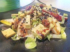 Witlof Salad w Pear, Sesame & vegan Cheese - vegan