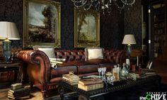 A proper gentleman's parlor.
