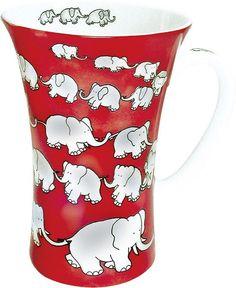 Animals Chain of Elephants Mega Mug