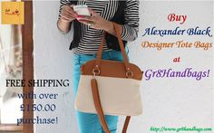 Buy Alexander Black Designer Tote Bags at Gr8Handbags! FREE SHIPPING with over £150.00 purchase!