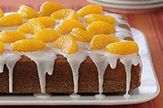 Try this Orange Pound Cake recipe. It's made with orange gelatin and zest, lemon juice and mandarin oranges. Kraft Foods, Kraft Recipes, Crab Cake Recipes, Pound Cake Recipes, Dessert Recipes, Pound Cakes, Dessert Ideas, Fruity Cupcakes, Banana Pudding Desserts