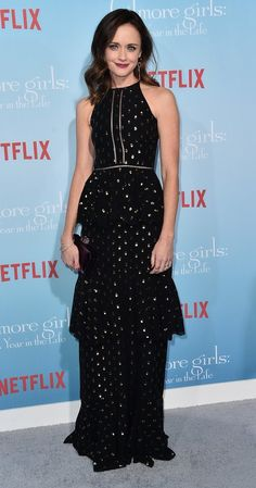 """Alexis Bledel in Cynthia Rowley attends the L.A. premiere of Netflix's """"Gilmore Girls: A Year In The Life"""". #bestdressed"""