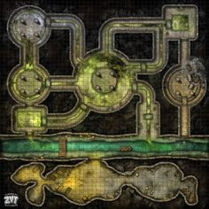 Post with 1201 views. [OC] FREE Battlemap: Sewers (Curse of the Wererat) Dungeons And Dragons Homebrew, D&d Dungeons And Dragons, Dnd World Map, Dcc Rpg, Pathfinder Maps, Map Layout, Dnd 5e Homebrew, Dungeon Maps, Fantasy Map