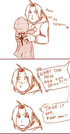 Ed dressing his kid like him! (part 2/3) | Art: m7angela