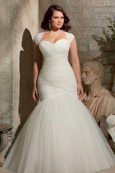 31 de cair o queixo vestidos de noiva plus-size