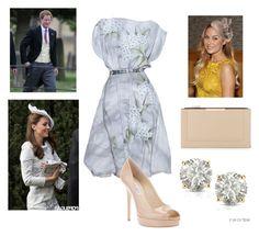 """Flashback: Wedding of Harry's Friends"" by royal-fashion ❤ liked on Polyvore featuring Jenny Packham, Lauren Conrad, Jimmy Choo, Pippa, BCBGMAXAZRIA and Auriya"