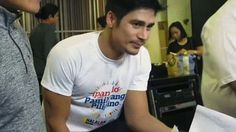 """This is the handsome Piolo Pascual smiling for the camera while preparing for the recording of the ABS-CBN 2016 Summer Station ID and Halalan 2016 Station ID, """"Ipanalo ang Pamilyang Pilipino!"""" Indeed, Piolo is another of my favourite Kapamilyas and Star Magic talents. #PioloPascual #Halalan2016 #IpanaloangPamilyangPilipino Born Again Christian, Star Magic, Fashion Models, Abs, Handsome, Singer, My Favorite Things, Celebrities, Mens Tops"""