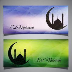 Eid Cards Banner Set Free Download Vectors http://www.cgvector.com/50-vector-graphics-eid-greeting-card-and-wallpaper/