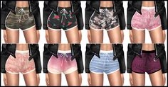 "kenzar-sims4: "" TS4 Zendra Shorts • 8 swatches • Custom thumbnail • Mesh not included • Credits to @puresims Download at my blogspot ! Necklace and tops by @simpliciaty-cc While SIMFILESHARE is down i..."