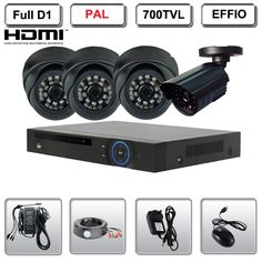 Home 4 CH D1 CCTV Security Network DVR Camera Outdoor Surveillance Video System