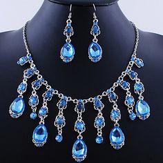 свадьба элегантный rhinetone Crytal серьги& ювелирные изделия ожерелья и др – RUB p. 642,04