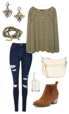 Untitled #391 by kmysoccer on Polyvore featuring Violeta by Mango, Topshop, Nica, Dee Berkley, BaubleBar, Kendra Scott and Essie