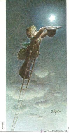 postal de ferrandiz! Aww! Such a sweet illustration! Aline ♥