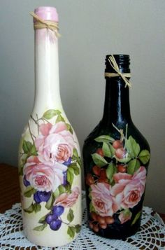 Botellas decoradas                                                                                                                                                                                 Más