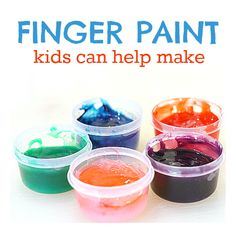 "Learn how to stir up your own finger paint at home with this easy recipe from ""No Time For Flashcards."""