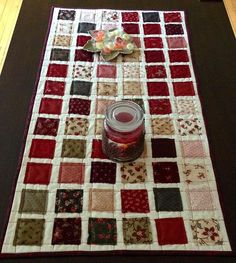 ~ Prep for Holiday Parties With 7 Giftable Patterns....Mini Table Runner Pattern…
