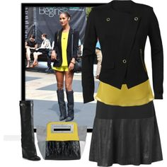 """""""Black and yellow for Fall"""" by inlovewithfashion-874 on Polyvore"""