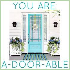 Love that door! Great idea to put the house number on the door too.