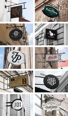 Au lieu d'avoir quelque chose qui recouvre la devanture... Juste une idee! Restaurant Signs Mock Up - PSD - forgraphic™