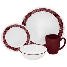 CORELLE 1103061 Livingware Bandhani 16-pc Dinnerware Set   #Corelle