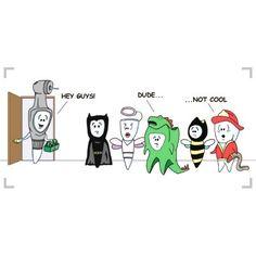 Hahaha   #Halloween #dentist #dental #dental humor #dental hygiene #dental hygienist