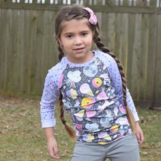 good morning! How cuuute is sweet Millie in our piñata party raglan!