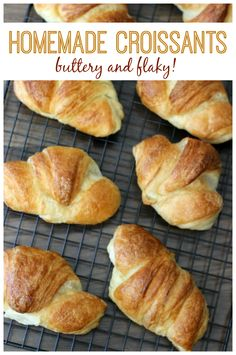 Buttery And Flaky, These Homemade Croissants Are Absolutely Delicious. In the event that You've Ever Been Intimidated By Making Puff Pastry Trust Me When I Say That It Isn't Hard To Make It Does Take Some Patience, But It Is Completely Worth The Time. Best Bread Recipe, Bread Recipes, Traditional Bread Recipe, Homemade Croissants, Croissant Recipe, Braided Bread, Cherry Recipes, Sweet Bread, Baked Goods