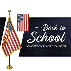 It's almost back to school time! Celebrate the new school year with a brand new American flag. Whether you're looking for a complete American flag set, or an American flag banner to hang in the classroom, we have a variety of products to suit all budgets. Shop Now @ Flagco.com!  #FlagCo #American #Flag #Classroom #Education #School #Teachers #Students #Patriotic