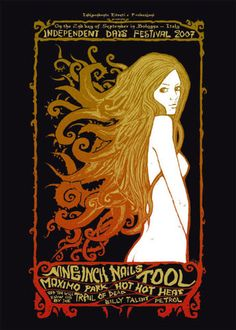 Art nouveau style concert poster (I WANT IT!). Tool + Nine Inch Nails!