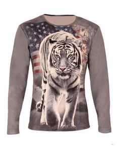 ae21b9c1856d 3D tiger printed long sleeve t shirts for men plus size Tiger T Shirt