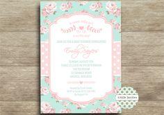 Baby Girl baby shower invitation/Shabby Chic by LittleInvites