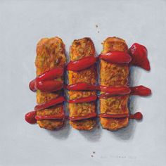 As ilustrações apetitosas de Joël Penkman Joel Penkman, Great British Food, British Dishes, Fish Finger, Food Painting, Food Drawing, Food Illustrations, Illustration Art, Fruit And Veg