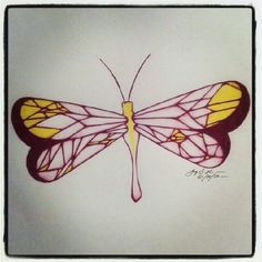 100 Butterflies in 100 Days, Day 10, Medium: Color Pencil