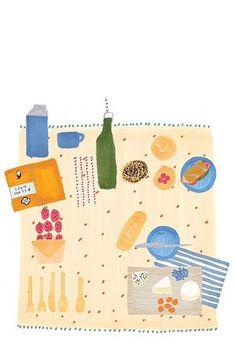 picnic blanket illustration {Grace Lee}