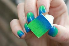 The secret behind doing ombre nails