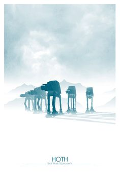 Alternative Star Wars posters: Hoth and Dagobah