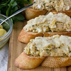 Tuna Melts with Olive Oil Mayonnaise & Parmesan, APple Tuna Melt (RR), etc