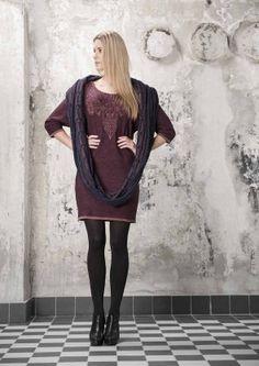 Brandmission:Aubergine jurk lamswol