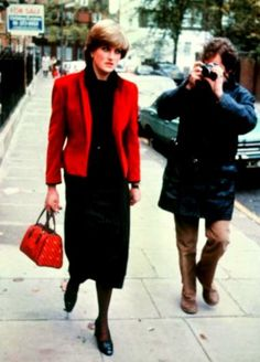 Lady Diana Spencer. already being harassed by the paparazzi