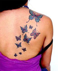 Tribal Butterfly Tattoo Designs for Women