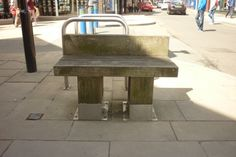 A tiny bench that no-one ever sits on in Oswestry.