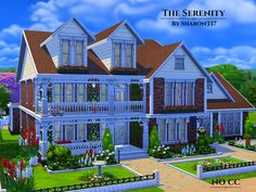 The Serenity is a family home built on a 40x30 lot in Newcrest on the Avarice Acres Lot.  Found in TSR Category 'Sims 4 Residential Lots'