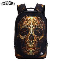 $18.86 (Buy here: https://alitems.com/g/1e8d114494ebda23ff8b16525dc3e8/?i=5&ulp=https%3A%2F%2Fwww.aliexpress.com%2Fitem%2FMochila-School-Backpack-2016-Fashion-3D-Cartoon-Printing-Skull-Backpack-School-Bags-For-Teenagers-Punk-Rock%2F32659115454.html ) Mochila School Backpack 2016 Fashion 3D Cartoon Printing Skull Backpack School Bags For Teenagers Punk Rock Backpacks Bag Z205 for just $18.86